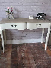Solid Wood Console Dressing Table Cream or White Wash Shabby Chic Rustic Country