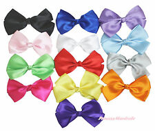 Wholesale Lot 13 Solid Color Grosgrain Ribbon Bow Craft Hair Clip Accessory
