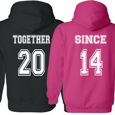 COUPLE hoodie Together Since Love shirt Valentine's Day gift sweatshirt t-shirt2