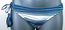 "NWOT Juniors ROXY ""INDIAN BEACH"" Striped 70's Lowrider One Tie Bikini Bottom $36"