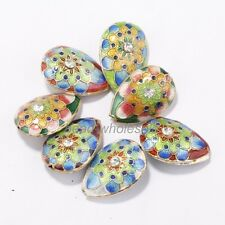 Wholesale 10pcs New Hot Great Equisite Teardrop Cloisonne Beads Spacer Various