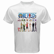 New ONE PIECE *Luffy and Frieds Anime Manga Men's White T-Shirt Size S to 3XL