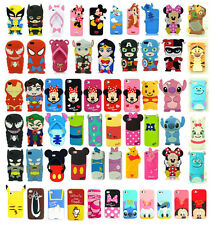 3D Cartoon Superhero Soft Silicone Rubber Case Cover For Apple iPhone 5S 5C 6 4G