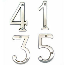BOLTON Satin Nickel House Number Address Numbers, 0-9 Different Sizes,Brand New