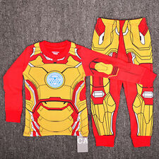 1-6 Iron Man Hero Boys Toddler Kid Pajamas Pyjamas T-shirt Sleepwear Set Costume