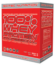 SCITEC NUTRITION WHEY PROTEIN PROFESSIONAL 60x30g 1800g TOTALI OFFERTA!!