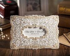 Elegant Vitage Wedding Invitation Cards With Free Envelopes & Seals Kit WI1051