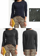 NWT Banana Republic New $59.50 Women Carolyn Embellished Top Size PS