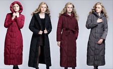 New Women's Hooded Warm Thicken Ankle Full Length Long Down Coat Parka Plus Size