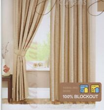 1x Pair Pencil Pleat Curtains with Tie Backs Premium Quality 100% Blockout New