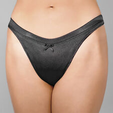 Black Low Contour Satin Gaff For Crossdressing Men - Trans Hiding, Tucking Panty