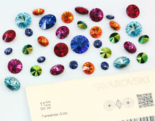 Genuine SWAROVSKI 1122 Rivoli Round Stone Foiled Glue Fix - More Colors & Sizes