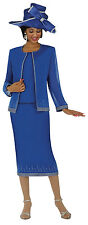 GMI 4393W  Polyester Rhinestone 3 Piece Church Dress Skirt Suit Plus 16W to 26W