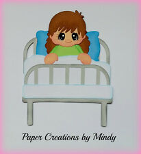 Hospital Girl kids  premade paper piecing for scrapbook  page album border