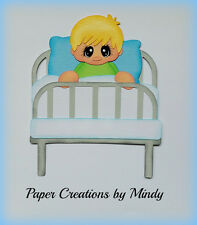 Hospital Boy kids  premade paper piecing for scrapbook  page album border