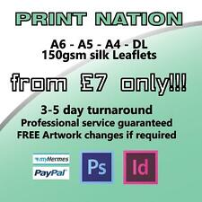 Flyers / Leaflets Printed On 150gsm Silk ~ A4 / A5 / A6 / DL