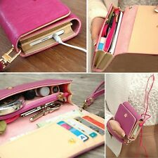 Leather Purse Case Cover For Iphone4 4s 5 Samsung Galaxy S2 S3 S4 2014 Hot Q