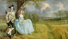 Mr and Mrs Andrews Gainsborough Wall Art Print Picture