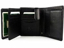 Visconti HT11 Genuine Leather Trifold ID Wallet Card Coin Holder Mens Gift Boxed
