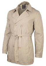 Men's Seven Hill Stone Trench Coat Jacket RRP £89.99 - ALL SIZES FOR WINTER