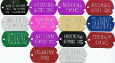 SERVICE DOG TAGS service dog vest, collar, harness tags