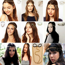 Fashion Women Metal Rhinestone Head Chain Jewelry Head Piece Hair Band