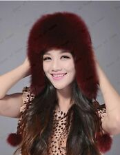 A variety of colors fox fur hat No splicing Women's fox raccoon fur hat