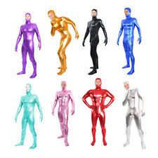 Free Shipping Shiny Lycra/Spandex Zentai Catsuit Body Suit Open Face - Back Zip