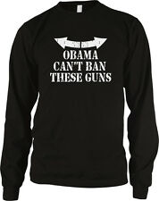 Obama Cant Ban These Guns Funny Muscles 2nd Amendment Long Sleeve Thermal