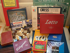 VINTAGE & TRADITIONAL BOARD GAMES   Chess,Canasta,Dominos,Tiddlywinks, see menu