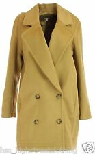 HOBBS LONDON PHILLIPA Womens Ladies Toast Brown Oversized Car Coat Jacket 8 - 16