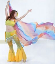Sexy Belly Dance Costume Gradient Color Shawl Veil 250*120cm 18 Colours GBW