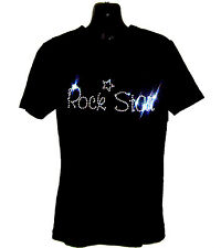 ROCK STAR CHILDRENS T SHIRT      CRYSTAL RHINESTONE DANCE DESIGN...any size