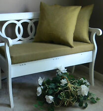 Shabby, French Country Burlap Cushion & Pillow Set for Bench/Swing -Choose Size