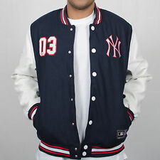 Majestic Athletic Senger Letterman New York Yankees Navy/White/Red Jacket Coat
