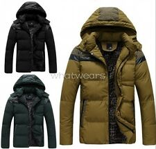 Boutique Winter Men's Hoodie Cotton Casual Down Jacket Warm Overcoat W0047 GBW