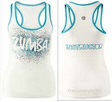ZUMBA INSTRUCTOR RacerBack Top Tank Tee *fr.Convention *EliteZWear RARE! S M XL