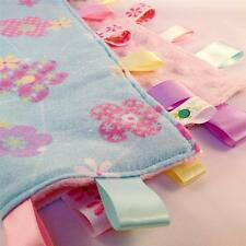 SPRING FLOWERS ~ Baby Security Blanket Toy + FREE Dummy/Taggie/Sophie Saver