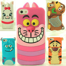 3D Classic Cartoon Animal Series Silicone Case Cover for iPhone Samsung LG HTC M