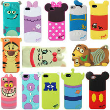 New 3D Cartoon Silicone Soft Back Animal Case Cover for iPhone Samsung LG HTC M7