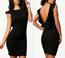 backless sexy bodycon evening bandage prom cocktail women stretchy short dress