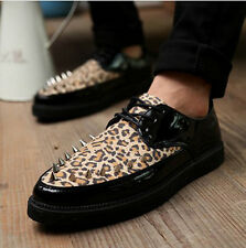 NEW Korean Version Men's Lace Up Fashion Retro Pointed Leather Shoes Cheap