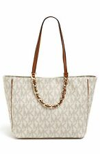 Michael Kors Harper Large East West EW Signature PVC Tote (Vanilla)
