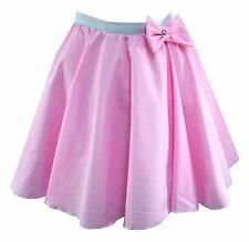 ADULT 50s ROCK N ROLL Many Colours DANCE CIRCLE SKIRT FANCY DRESS COSTUME GREASE