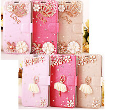 3D Diamond Bling Flip Wallet Stand CSW Leather Case Cover For Alcatel One Touch