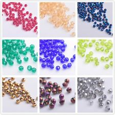 100pcs Rondelle Faceted Glass Crystal Charm Loose Spacer Jewelry Making Bead 3mm