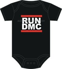 RUN DMC BABYGROW OLD SCHOOL HIP HOP BABY GROW 0-12 MONTHS BABYGROW ASST COLOURS