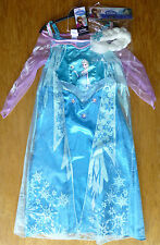 ♥ BNWT ASDA GEORGE DISNEY ELSA FROZEN FANCY DRESS COSTUME 2-3-4-5-6-7-8 YRS  ♥