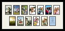 Satin Black Collage Picture Frame with 13 - 4x6 opening(s), Double Matted