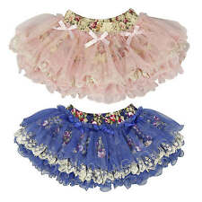 Girls Skirt  TuTu/Dance SIZE 3M-6Y in PINK or Blue - many lace+ tulle layers!!